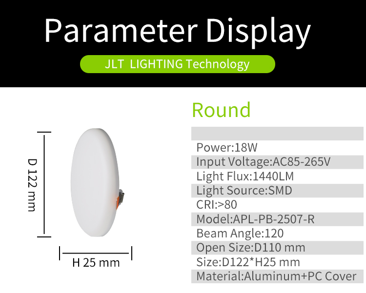 Wholesale price frameless acrylic embedded dimmable led panel light 18w