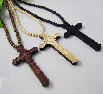 Wooden Cross Pendant With A 36 Inch Wood Beaded Necklace Chain Buy Wooden Cross Pendantnatural Wood Jewelrywooden Beaded Necklace Product On