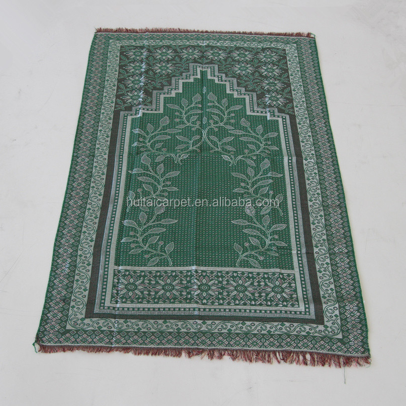 Jacquard weaving prayer mat carpet rug moslem carpet