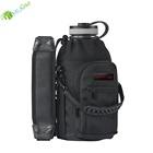 YumuQ 25OZ/32OZ/40OZ/64OZ Insulated Neoprene Water Bottle Cooler Holder Carrier Bag with Handle And Shoulder Strap