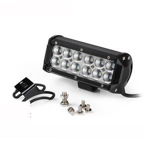 36W 12 LED Work Flood Beam Driving Fog Offroad Light bar For vehicles