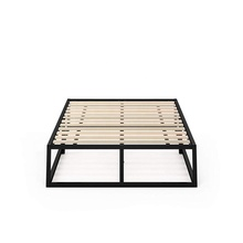 Moderne Studio Platform Bed Frame/Matras Foundation/Boxspring Optioneel/Hout <span class=keywords><strong>latten</strong></span> ondersteuning