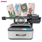 Top selling Funsunjet A1 UV 3d effect printing machine flatbed printer with 2 dx8 heads