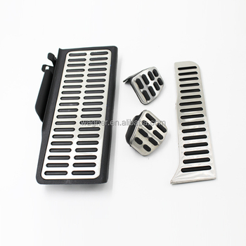 Car Accessories brake gas MT pedal pad for Volkswagen Passat B6 B7L CC Skoda Superb II
