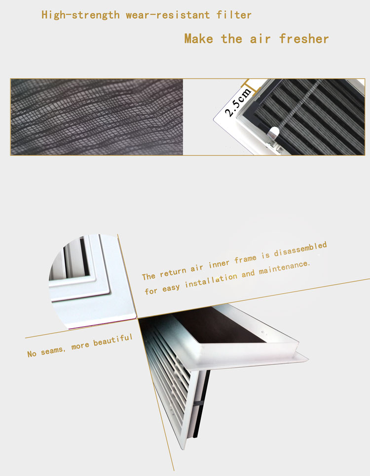 ABS Air Conditioner Grille Exhaust Air Grille Decorative Metal Grille Panels Supply Air Diffuser