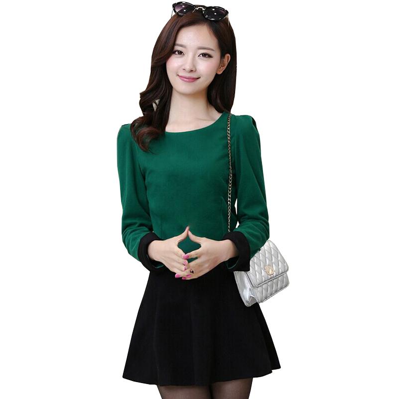 d8abdae91 Get Quotations · 2015 New Fashion Autumn Winter Dress Women Two Piece Dress  Elegant Long Sleeve Bow Casual Women