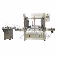 Automatic glass and plastic bottle water rinsing machine
