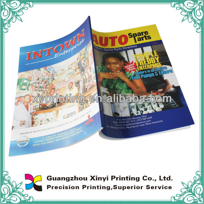Magazine printing services for car parts catalog brochure book printed