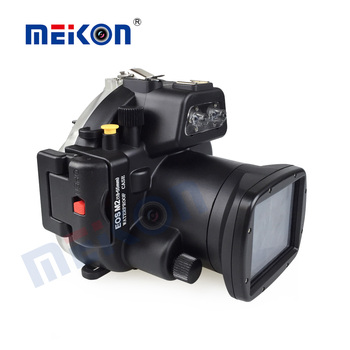 Top quality 18-55mm lens camera underwater housing for Canon EOS-M2