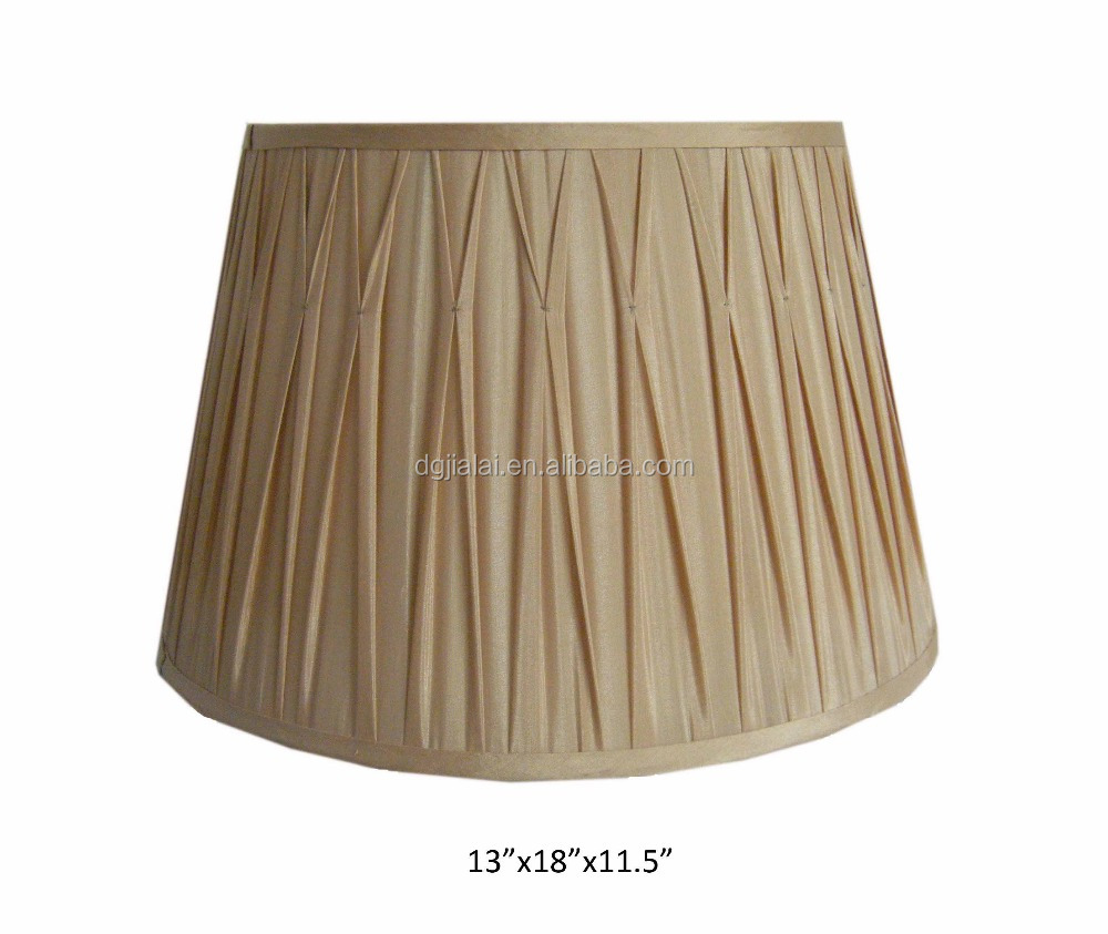 dark gold color modified box pleated soft back lamp shade