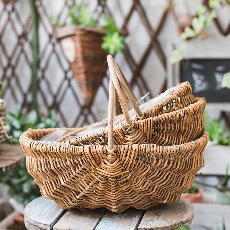 Bread Picnic Wicker Basket Custom Size