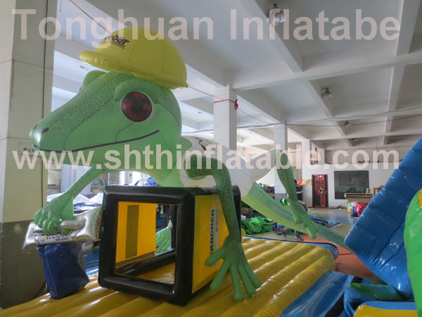 inflatable gecko/inflatable advertising cartoon