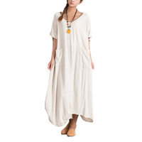 Factory Wholesale Oversize Casual Custom 100% Linen Women Clothing