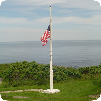 Conic Carbon Galvanized Steel Outdoor Flag Pole Stand
