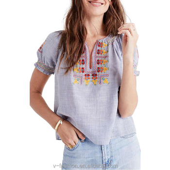 Latest Clothing Style Spring New Design Normal Blouse Buy