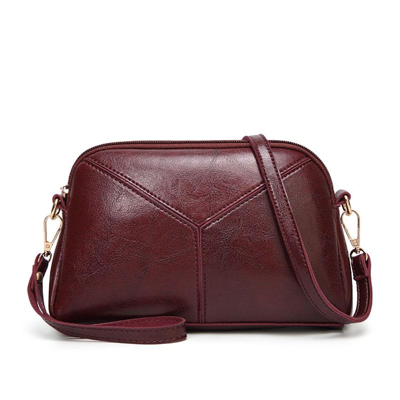 421c9bcd26 Guangzhou Wholesale 2018 New Design Vintage Wax Oil Leather Shoulder Bag  Fashion Lady Sling Cross Body