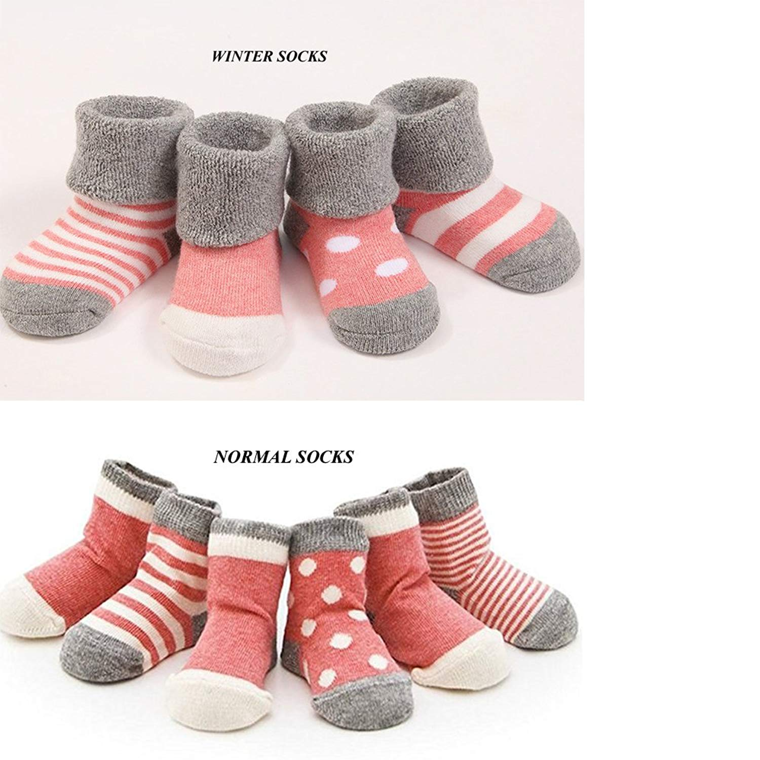 32e18cd35 Get Quotations · Cuca Dunna Infant Baby Toddler Socks For Girls And Boys