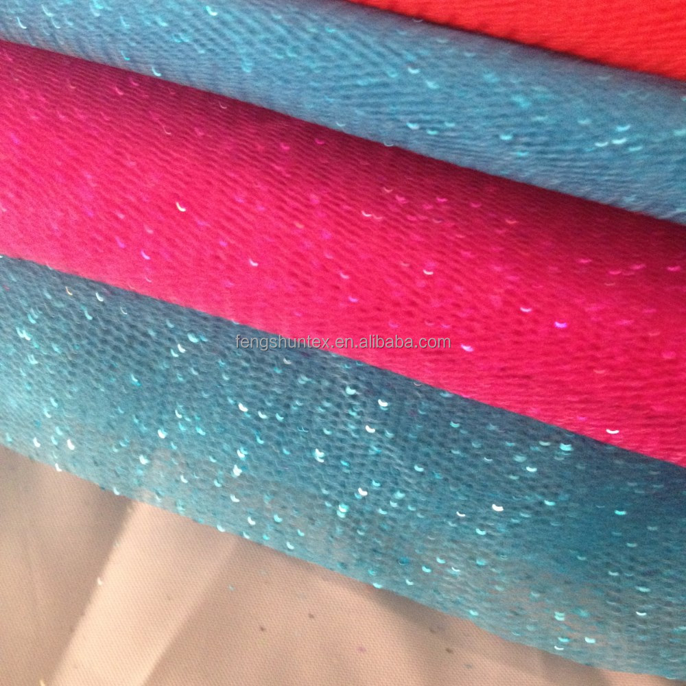 Colorful glitter tutu tulle fabric 100% polyester tutu tulle wedding dress fabric