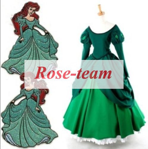 Fantasia Anime Lolita Dress-Hot Selling The Little Mermaid Ariel Princess Dress for Dance Party Cosplay Costume C0568