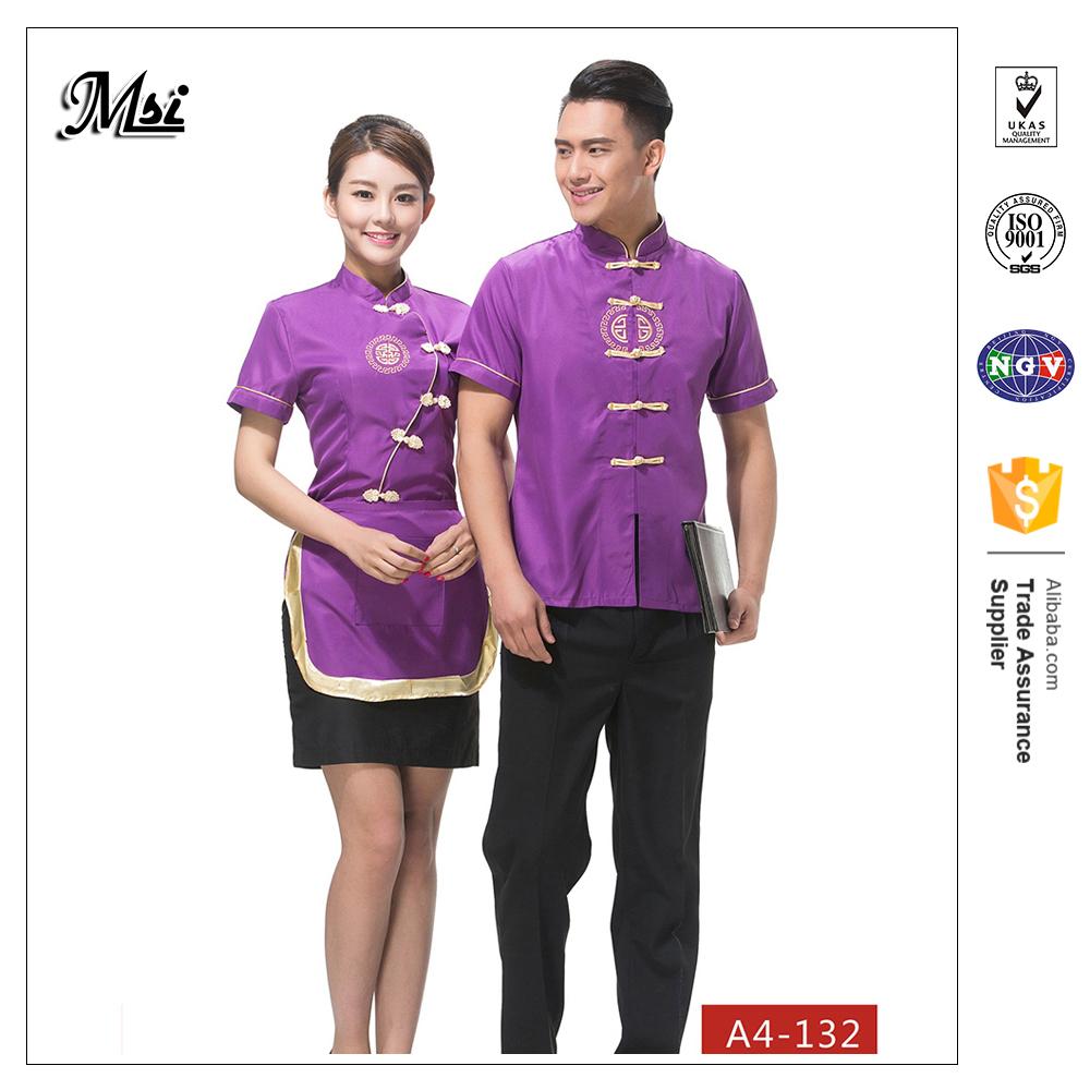 Bartender Shirts Catering Kleidung Liefert Für Hotels Kellnerin Tops  Schürzen Feine Esszimmer Uniformen Kurzen/langarm