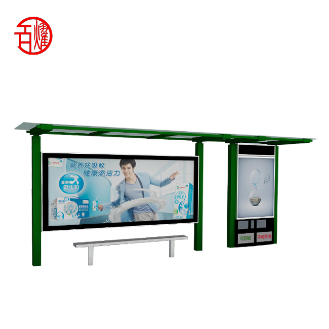 Outdoor billboard led licht screen display roll bus stop bus shelter