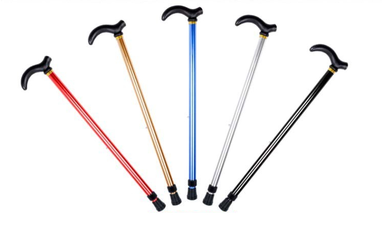 Elderly care Two sections adjustable aluminum walking cane