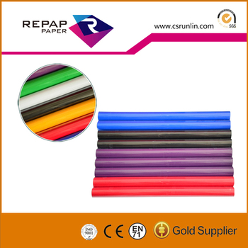PVC Self Adhesive Film Roll Contact Paper For Book Cover Transparent Color  Plastic Film