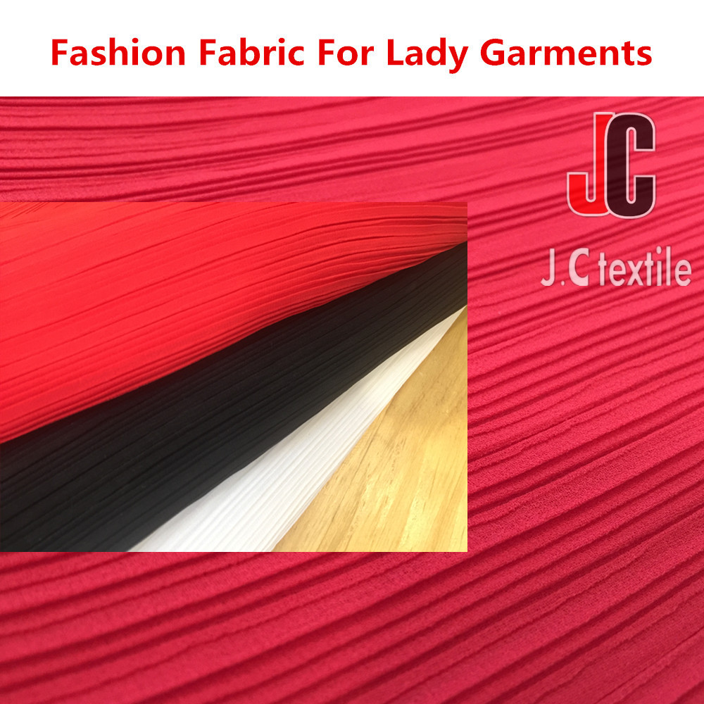 100% polyester soft pleated silk chiffon fabric for dress