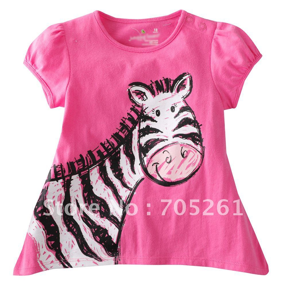 Top off a darling dance look with a dazzling graphic tee or a fun dance top! Our children's dance tops are super-cute and wear-well through many washings.
