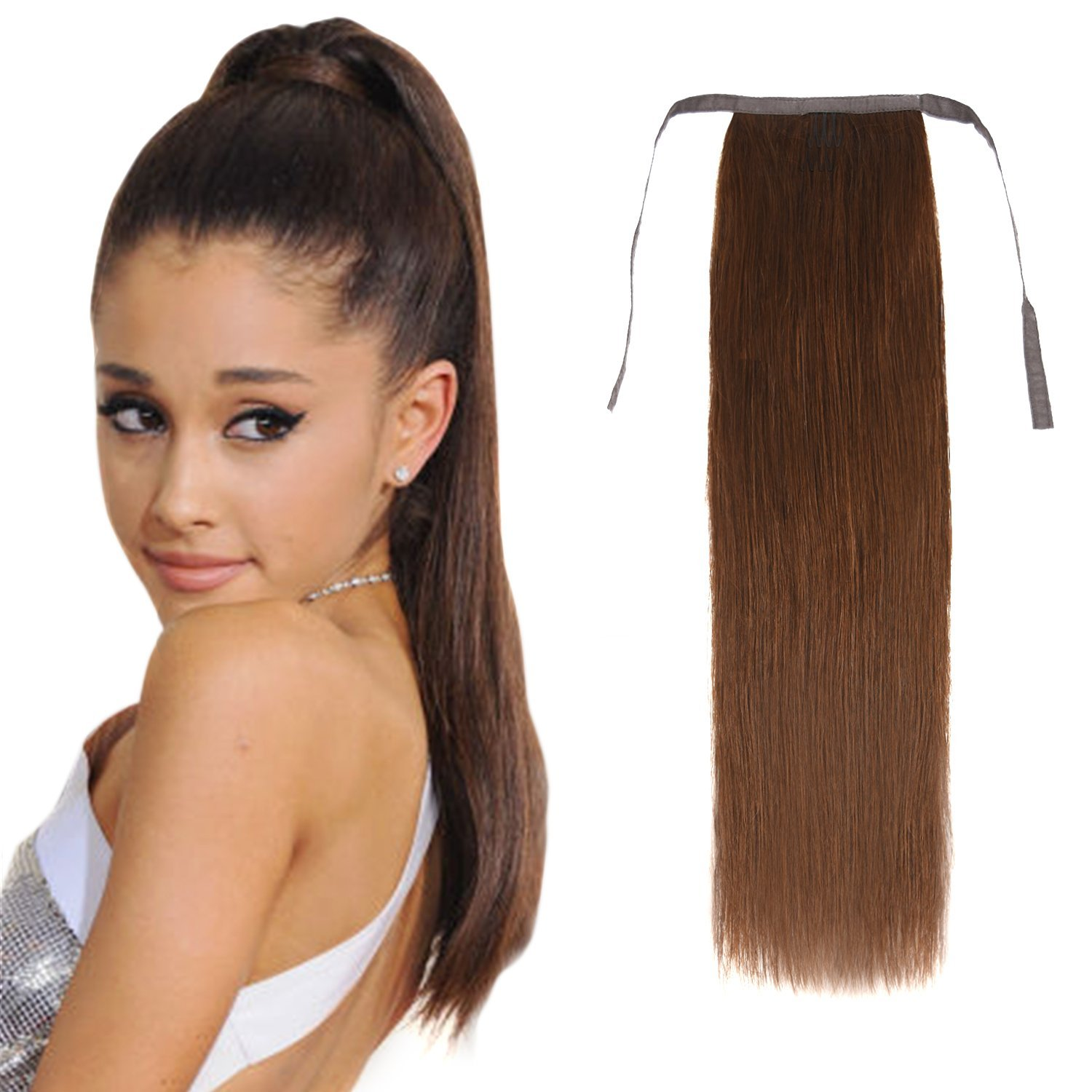 Buy 20 Wrap Around Human Hair Ponytail Extensions Hairpiece Long