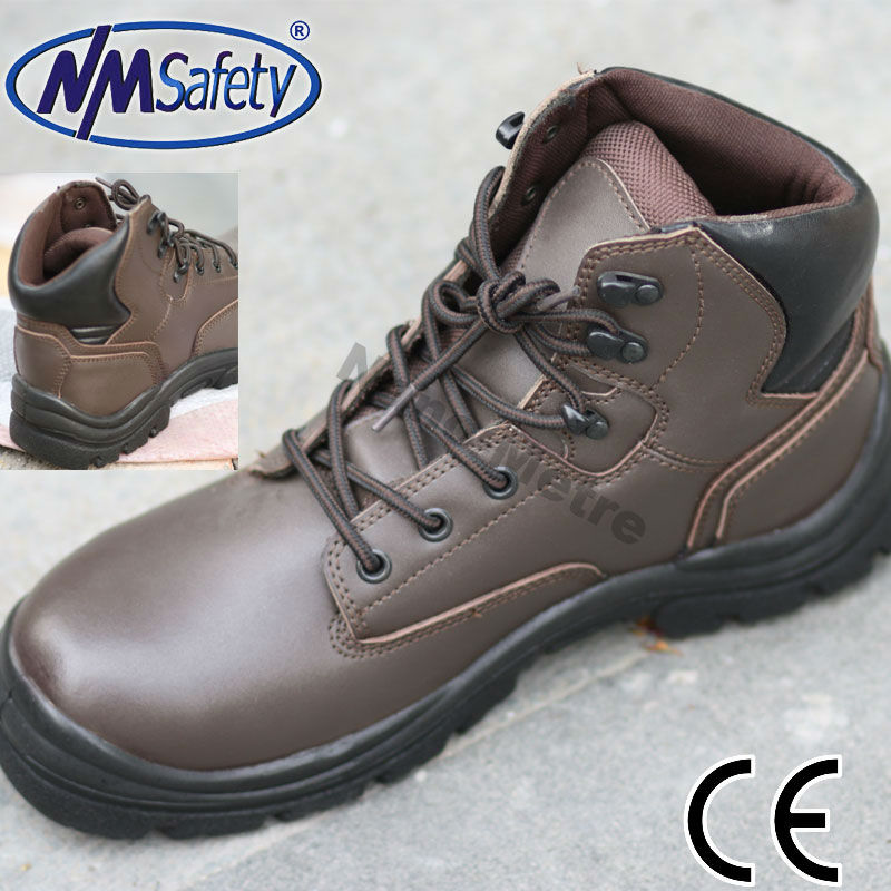 NMSAFETY cow split leather safety footwear/designer safety shoes