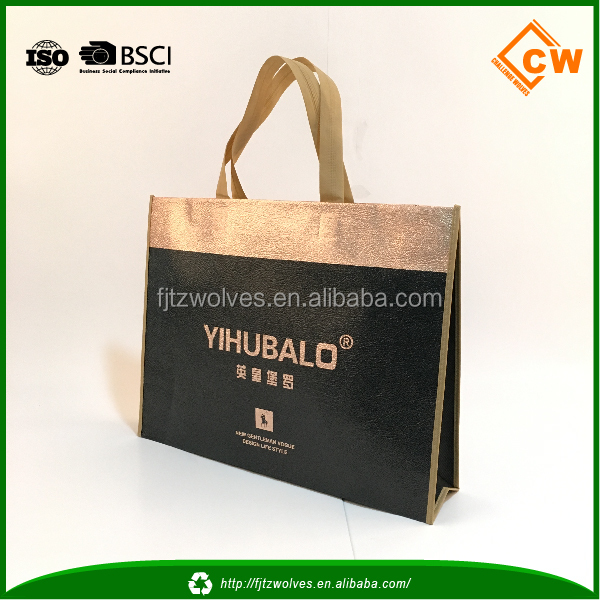 2016 BOPP wholesales promotional Matte and Glossy laminated PP woven bag