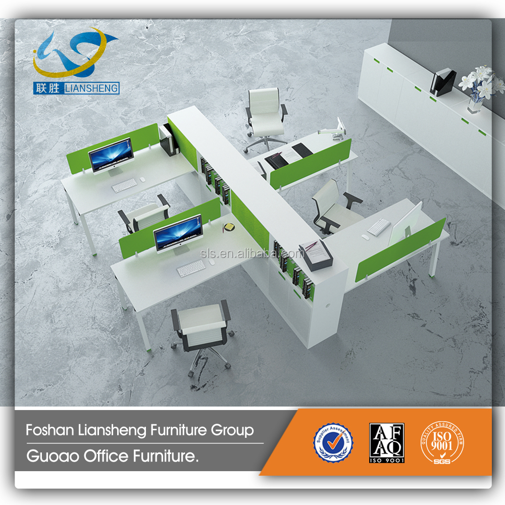 Acrylic panel furniture open office workstation KD-11
