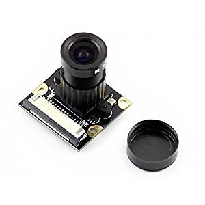 Angelelec DIY Open Sources Sensors, RPI Camera (F), Supports Night Vision, Adjustable-Focus, Raspberry Pi Camera Module, Supports Night Vision, 5 Megapixel OV5647 Sensor, 4 Screw Holes for Attachment