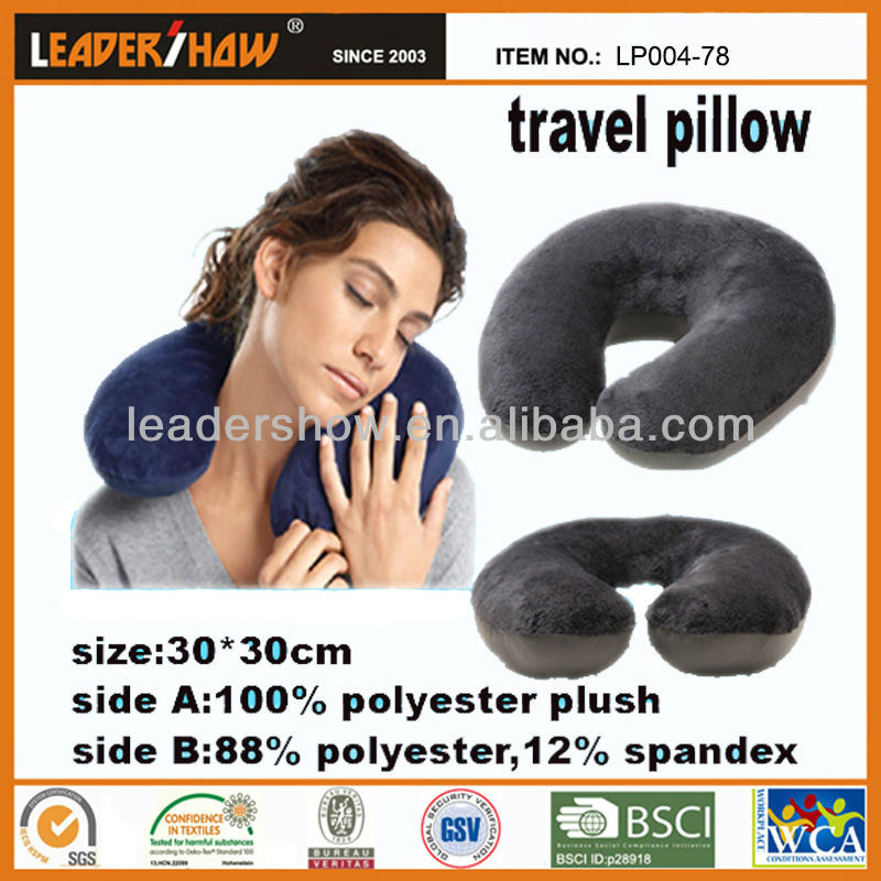 Fresh printed patterns made car neck pillow/ Best travl microbeads neck pillow in U shape