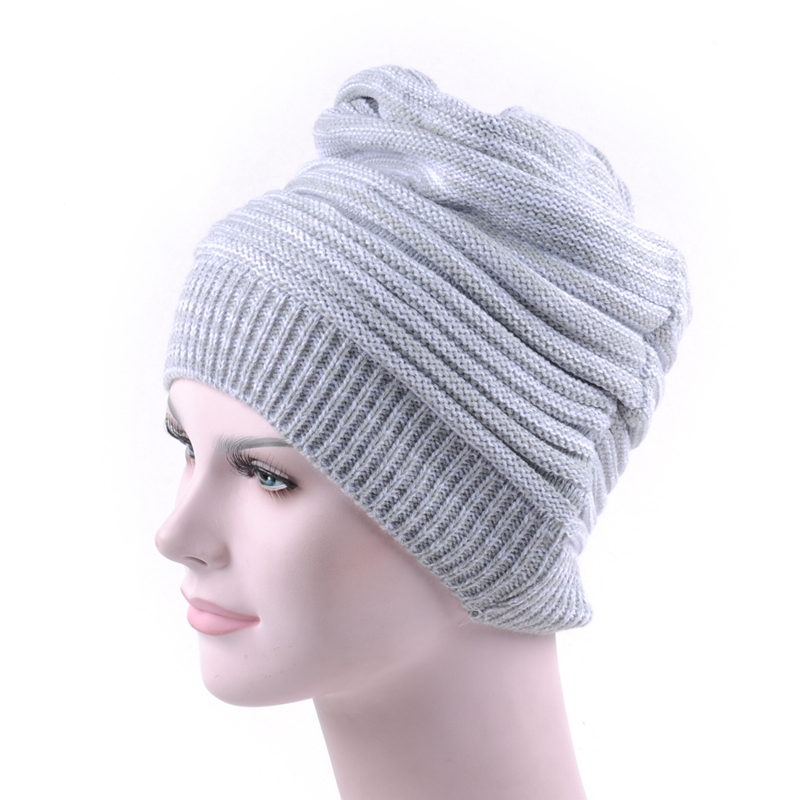 Womens Knitted Winter Hats ladies Fancy Hats unisex Slouch Beanie ... 16d71ec91fa