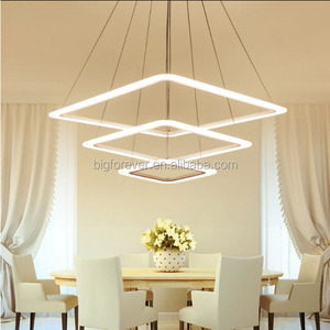 Hot selling modern light indoor led lamp 3 rings led pendant light fittings acrylic material modern decorative lamps