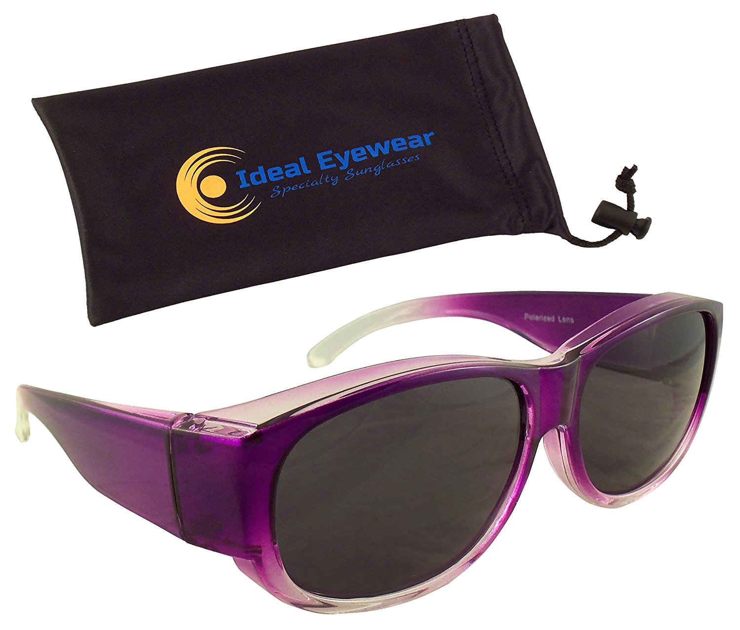 bde10191e9a Get Quotations · Womens Ombre Fit Over Sunglasses by Ideal Eyewear - Wear  Over Prescription Glasses - Over Eyeglasses
