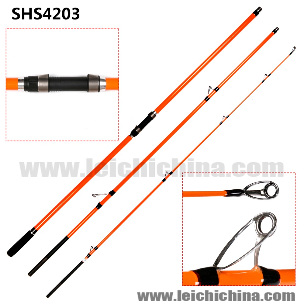 in stock butt fast action carbon surf casting fishing rod