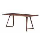 Dinning Table [ 8 Wood Dining Table ] DT-162 Restaurant Furniture 8 People Solid Walnut Wood Dining Table