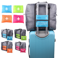 230D nylon twill waterproof luggage foldable travel messenger duffle bag