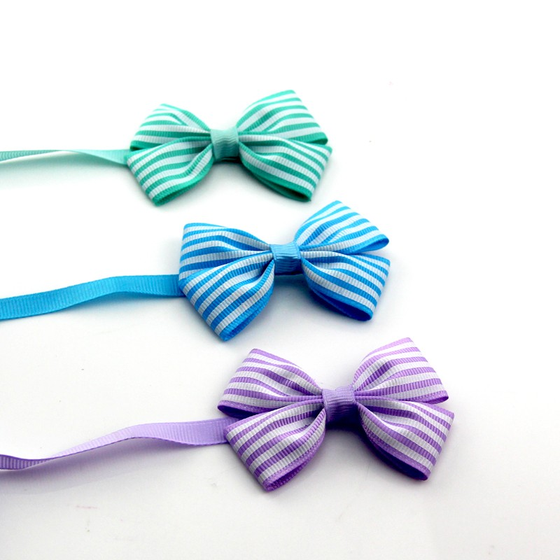 Stripe Cat Bow Tie 9 Colors for Choose Small Dog Collar Products