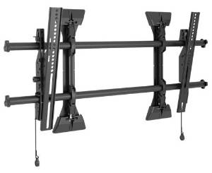 Chief XTM1U-G X-Large FUSION Micro-Adjustable Tilt Wall Mount - Mounting kit for LCD display - black - screen size: 55 inch - 82 inch - wall-mountable