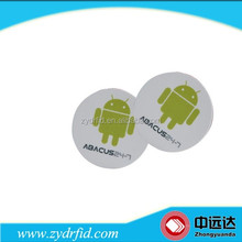 Customized Dimension Diameter 25/30/28mm RFID ISO 15693 I code slix NFC Sticker Tag