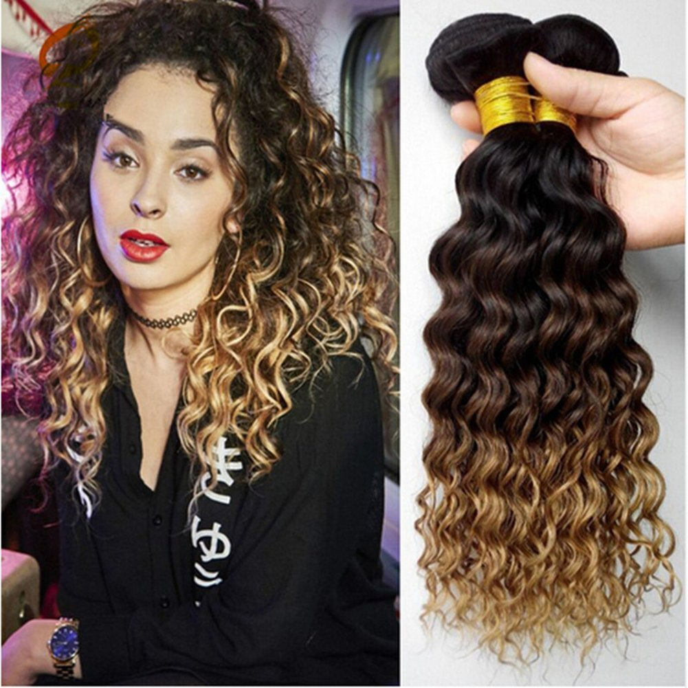 Buy Ruma Hair 1b427 Honey Blonde Ombre Brazilian Deep Wave Human
