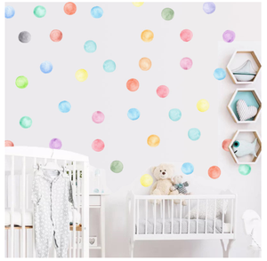 New colorful kids room diy decoration Dot Wall Decals sticker