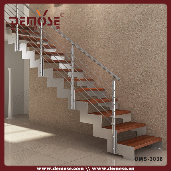 Indoor rechte timber trap ontwerp voor villa trappen product id 60427215854 - Ontwerp trap trap ...