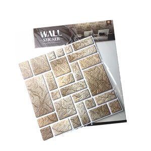 3d self-adhesive waterproof pvc removable square wall tile sticker