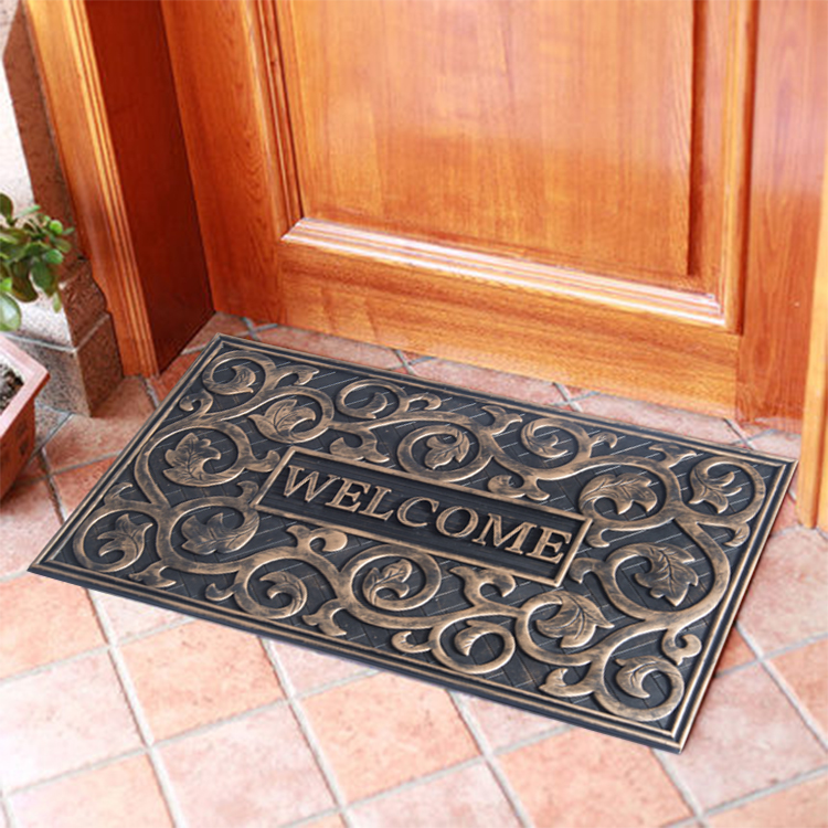 Hot selling Anti-slip Rubber Backing Various color Door Mats outdoor mat