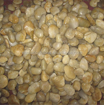Yellow Color Washed River Stonenatural Loose Pebble Stone
